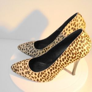 Steve Madden 4.5 inch Calf Hair Pumps